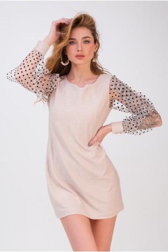 Платье на корпоратив «Шеннон» бежевое