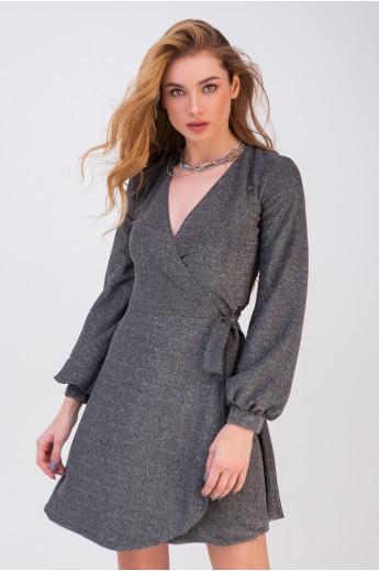 Платье с блестками «Фэйт» серебро