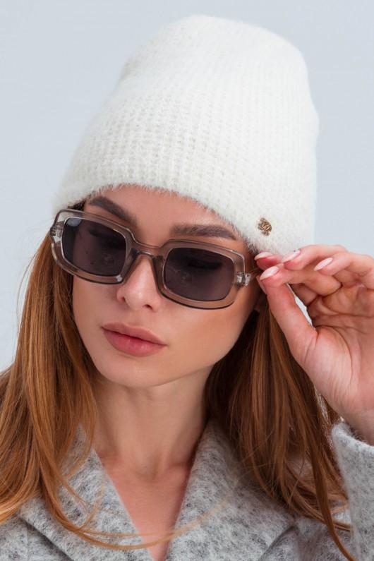 Шерстяная шапка «Рино» белая
