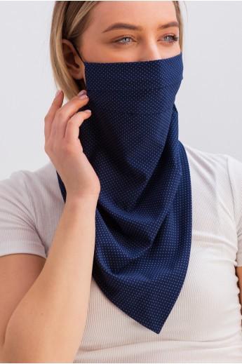 Дизайнерская маска-платок с принтом синяя