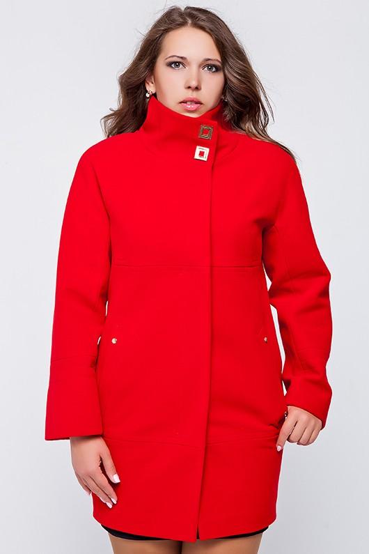 """Демисезонное пальто """"Шарлотта"""" красное"""
