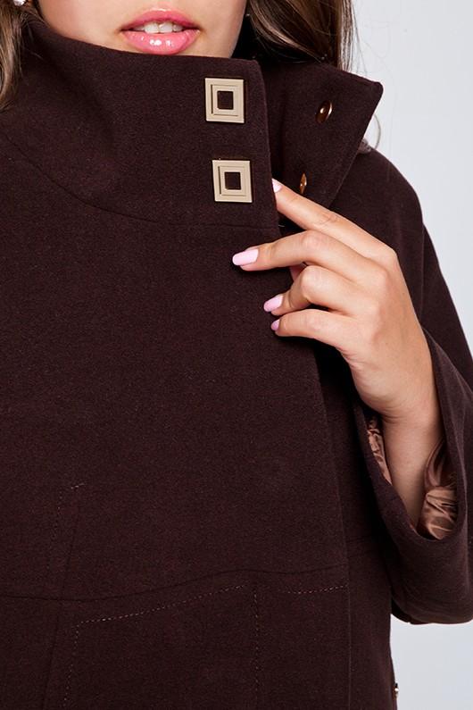 """Демисезонное пальто """"Шарлотта"""" коричневое"""