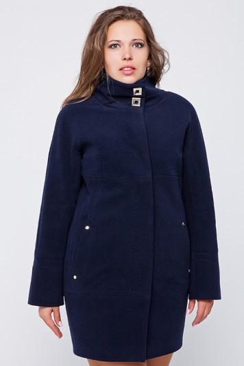 """Демисезонное пальто """"Шарлотта"""" синее"""
