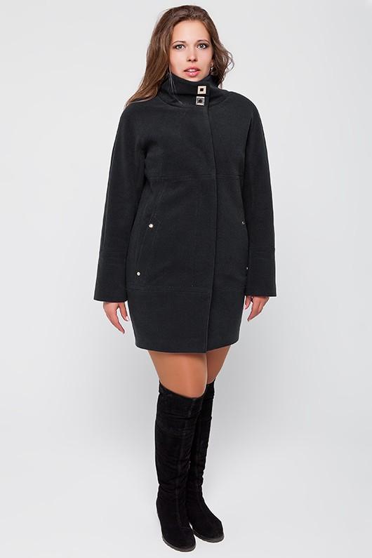 """Демисезонное пальто """"Шарлотта"""" черное"""