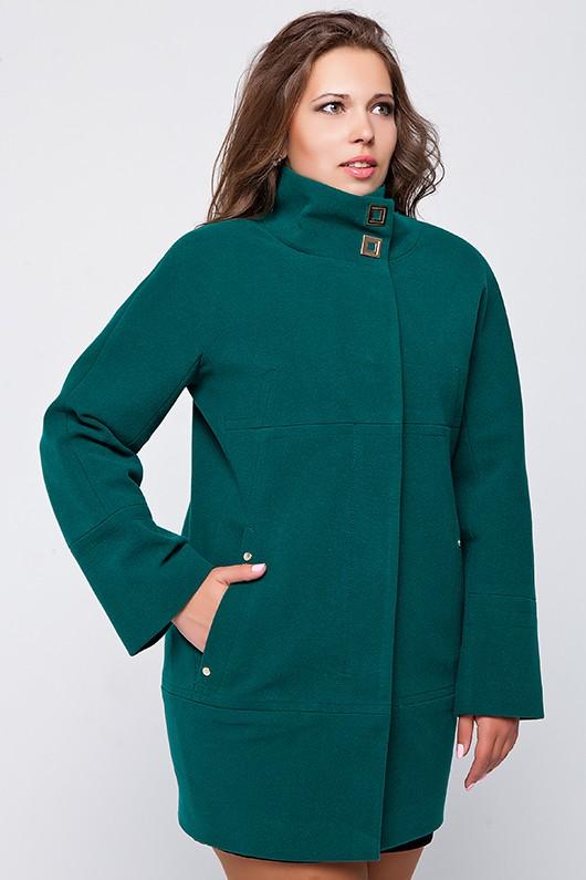 """Демисезонное пальто """"Шарлотта"""" зеленое"""