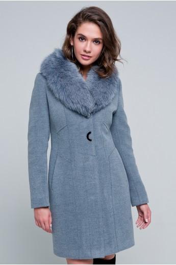 """Утепленное пальто """"Вайнона"""" серое"""