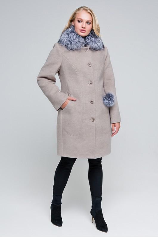 Зимнее пальто «Надин» капучино