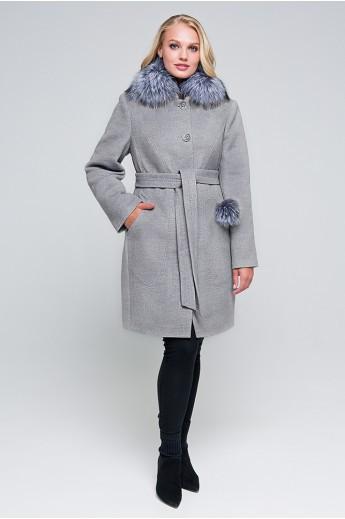 Зимнее пальто «Надин» серое
