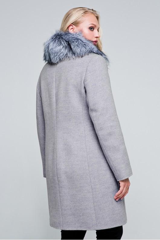 Зимнее пальто «Надин» светло-серое