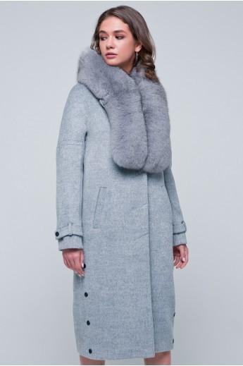 Зимнее пальто «Нинель» серое