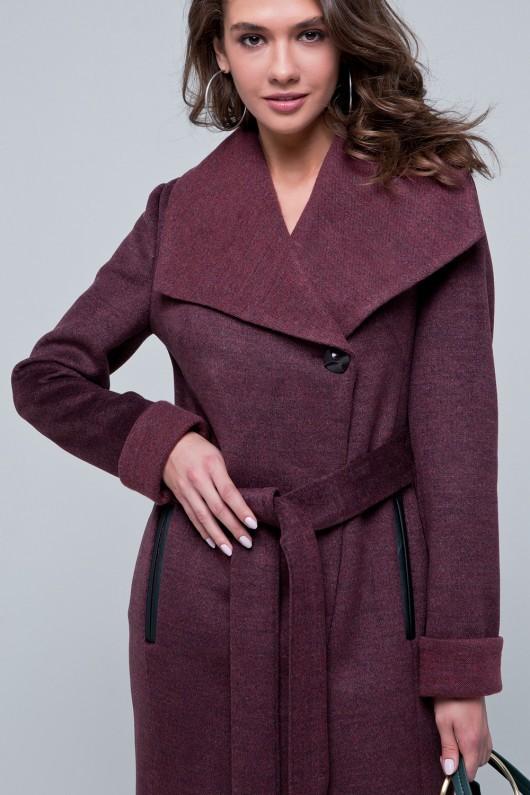 Осеннее пальто «Джиджи» бордовое