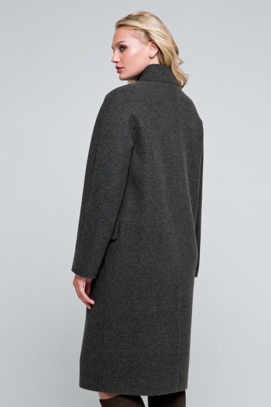 Пальто оверсайз «Пейтон» коричневое