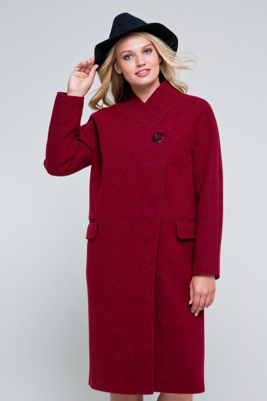 Пальто оверсайз «Пейтон» бордовое