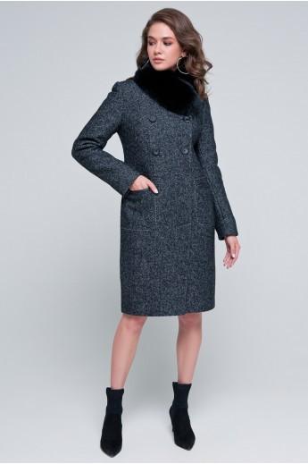 Двубортное пальто «Пэм» черное
