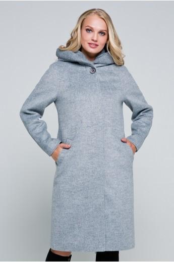 Длинное пальто «Дайана» серое