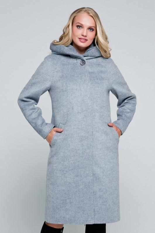 Утепленное пальто «Дайана» серое