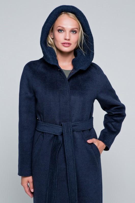 Утепленное пальто «Дайана» темно-синее