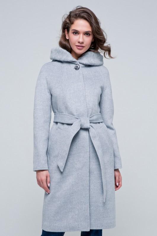 Длинное пальто «Дайана» светло-серое