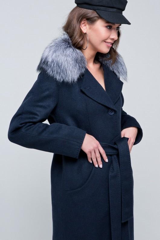 Пальто зимнее «Кортни» морская волна