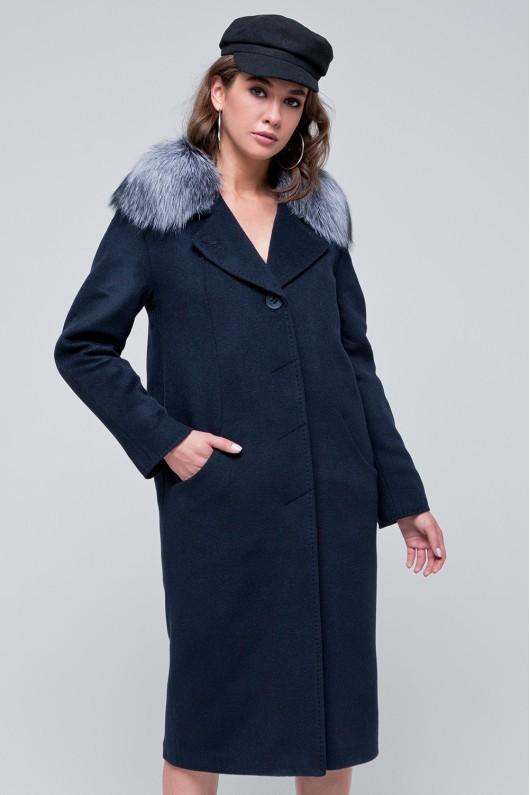 Пальто зимнее «Кортни» темно-синий