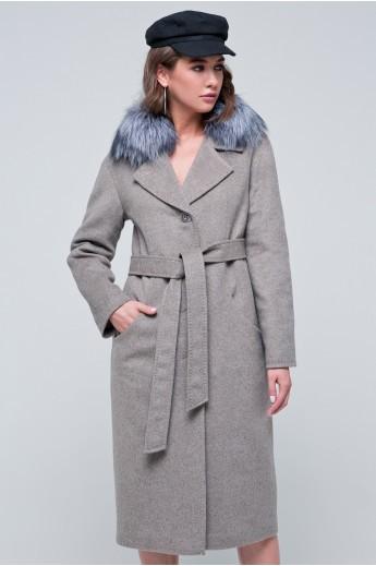 Пальто зимнее «Кортни» капучино