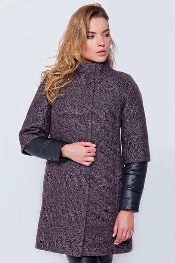 Пальто «Кайли» коричневое