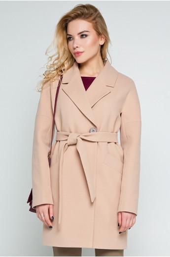 """Кашемировое пальто """"Тейлор"""" бежевое"""