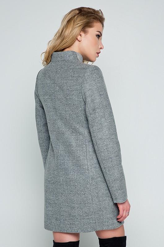 """Весеннее пальто """"Нора"""" серое"""