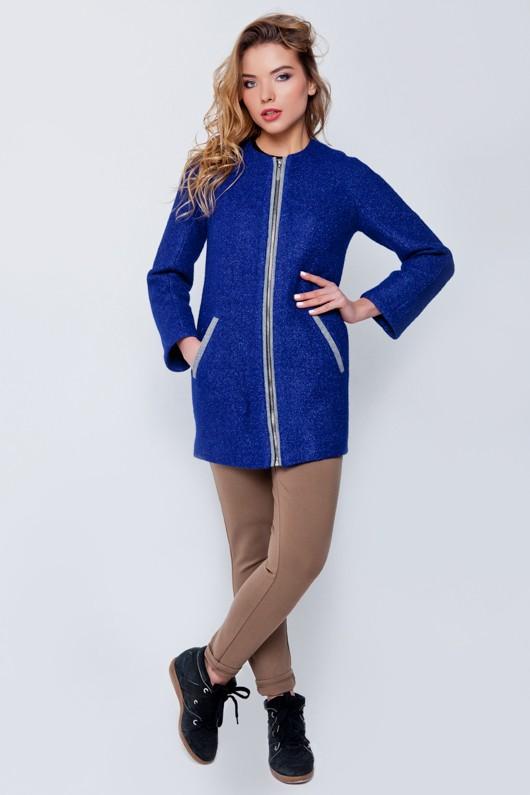 "Демисезонное пальто  ""Милен"" синее"