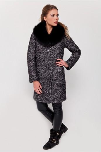 Зимнее пальто с мехом «Амели»