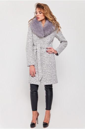 Зимнее пальто с мехом «Белла»