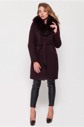 Зимнее пальто с мехом «Вивьен»