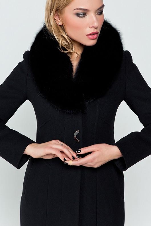 """Утепленное пальто """"Вайнона"""" черное"""