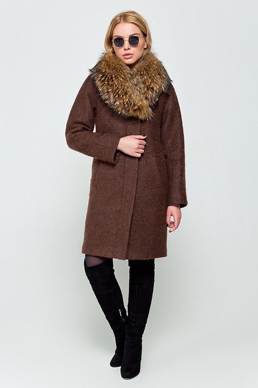"""Зимнее пальто """"Эрика"""" коричневое"""