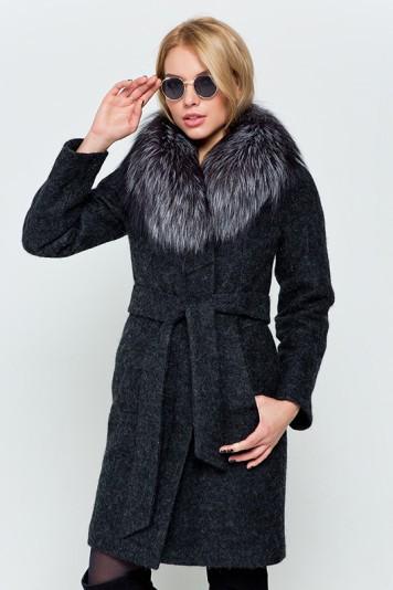 """Зимнее пальто """"Эрика"""" черное"""